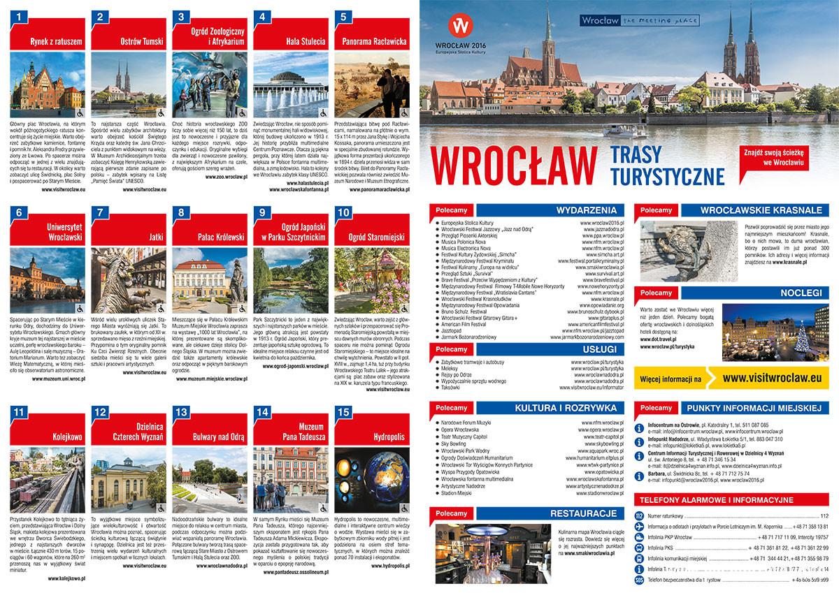 mapa: Trasy Turystyczne Wrocław